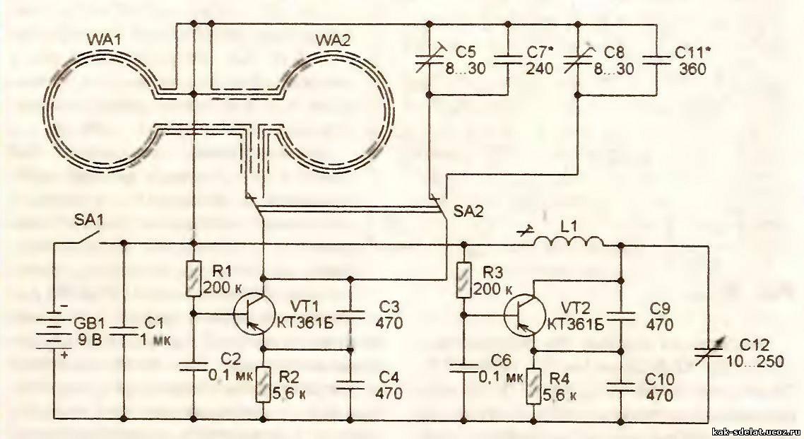 Передатчики для металлоискателя схемы