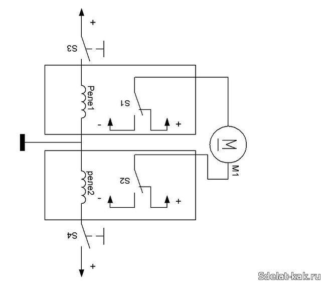 Схема реверса двигателя
